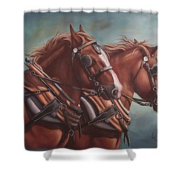 Harness Power Shower Curtain