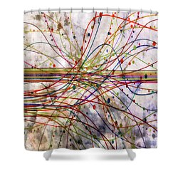 Shower Curtain featuring the digital art Harnessing Energy 1 by Angelina Vick