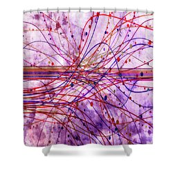Shower Curtain featuring the digital art Harnessing Energy 2 by Angelina Vick