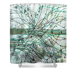 Shower Curtain featuring the digital art Harnessing Energy 3 by Angelina Vick