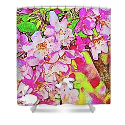 Harp Blossoms Shower Curtain by Lenore Senior