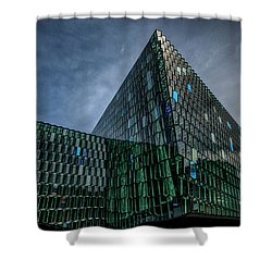 Harpa Shower Curtain by Wade Courtney