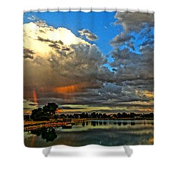 Harper Lake Shower Curtain by Eric Dee