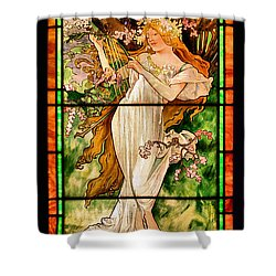 Harpist Shower Curtain by Kristin Elmquist