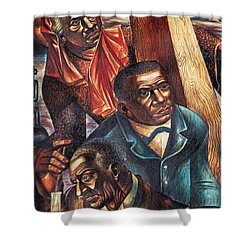 Harriet Tubman, Booker Washington Shower Curtain by Photo Researchers