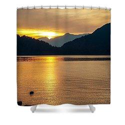 Harrison Lake, British Columbia Shower Curtain by Heather Vopni
