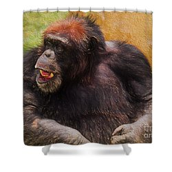 Shower Curtain featuring the painting Harry by Judy Kay