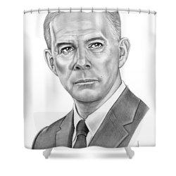Harry Morgan Shower Curtain by Murphy Elliott