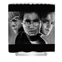 Harry Potter Fanart Shower Curtain by Jasmina Susak