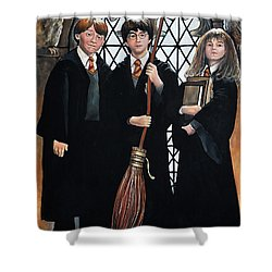 Harry Potter Shower Curtain by Tom Carlton