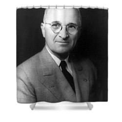 Harry S Truman - President Of The United States Of America Shower Curtain by International  Images