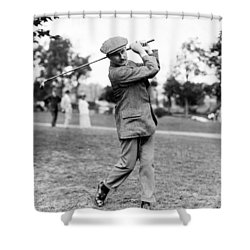 Harry Vardon - Golfer Shower Curtain by International  Images