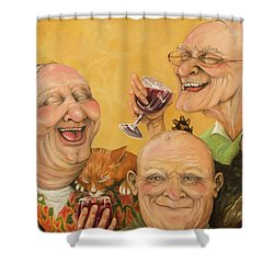Harry's Lodge Meeting Shower Curtain by Shelly Wilkerson