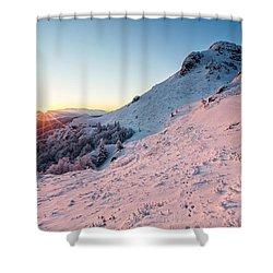 Harsh Sunshine Shower Curtain by Evgeni Dinev
