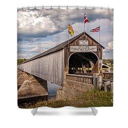 Hartland Covered Bridge Shower Curtain