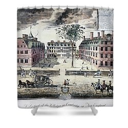 Harvard College, C1725 Shower Curtain by Granger