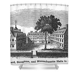 Harvard University, 1755 Shower Curtain by Granger