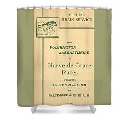 Harve De Grace Races Shower Curtain