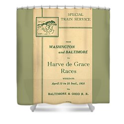 Harve De Grace Races Shower Curtain