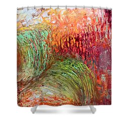 Harvest Abstract Shower Curtain