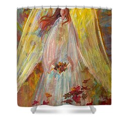 Harvest Autumn Angel Shower Curtain