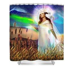Harvest Bride Shower Curtain by Dolores Develde