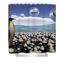 Harvest Day Sightings Shower Curtain by Richard Rizzo