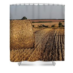 Shower Curtain featuring the photograph Harvest by Gary Bridger