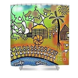 Harvest Shower Curtain by Latha Gokuldas Panicker