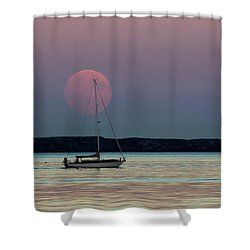 Harvest Moon - 365-193 Shower Curtain by Inge Riis McDonald