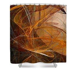 Harvest Moon Shower Curtain by David Lane