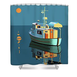Harvest Moon Shower Curtain by Gary Giacomelli
