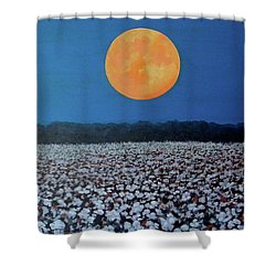 Harvest Moon Shower Curtain by Jeanette Jarmon