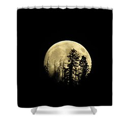 Shower Curtain featuring the photograph Harvest Moon by Karen Shackles
