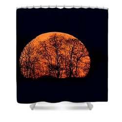 Harvest  Moon Rising Shower Curtain