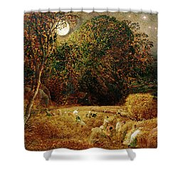 Harvest Moon Shower Curtain by Samuel Palmer