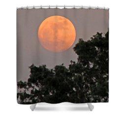 Harvest Moonrise Shower Curtain