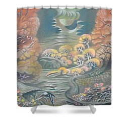 Harvest Moons Shower Curtain