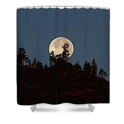 Harvest Moonset Shower Curtain by Donna Kennedy