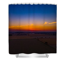 Harvest Sunrise Shower Curtain