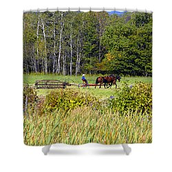Harvest Time Shower Curtain by David Lee Thompson