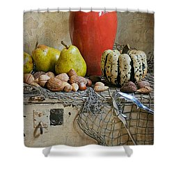 Harvest Vase Shower Curtain by Diana Angstadt