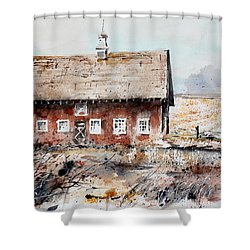 Harvested Fields Shower Curtain by Monte Toon
