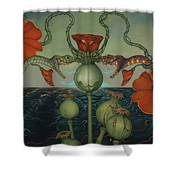 Harvesters Shower Curtain by Andrew Batcheller
