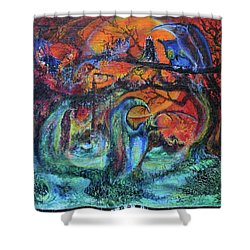 Harvesters Of The Autumnal Swamp Shower Curtain by Christophe Ennis