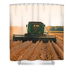 Harvesting Soybeans Shower Curtain