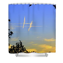 Shower Curtain featuring the photograph Hashtag Sky by Lew Davis