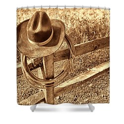 Hat And Lariat Shower Curtain