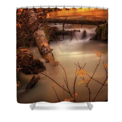 Hat Creek In Gold Shower Curtain