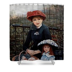 Hat Sense Shower Curtain by Judy Kirouac